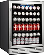 """Kalamera 24"""" Beverage Refrigerator 175 Can Built-in Single Zone Touch Control"""