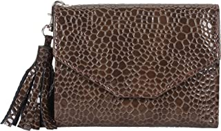 Creature Women's Maroon Small Clutch With Multiple Card Slots (Color-Brown  SCL-01)