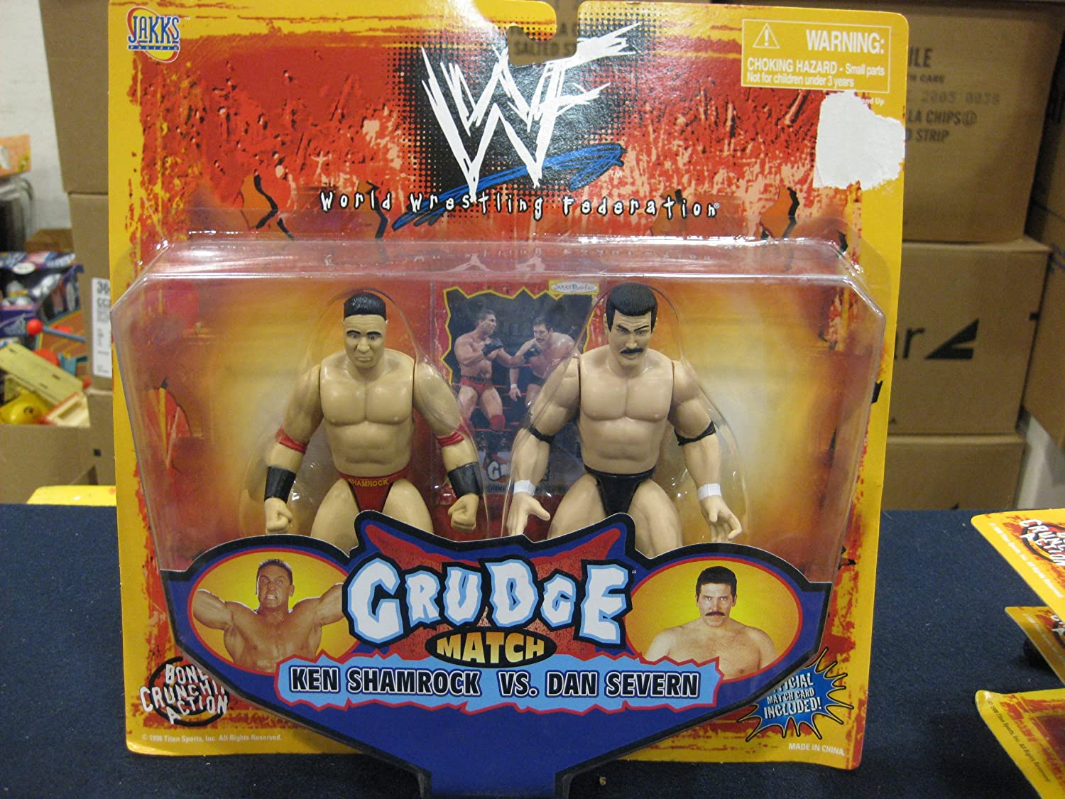 Jakks WWF Grudge Ken Shamrock vs Dan Severn by Pacific 1998
