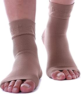 Doc Miller Plantar Fasciitis Socks Medical Grade Compression Foot Sleeves - Ankle Arch & Heel Support for Achilles Tendon ...