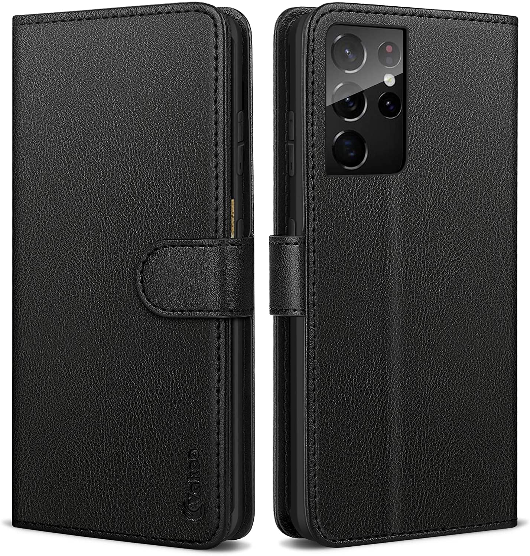 Direct sale of manufacturer Manufacturer regenerated product Samsung Galaxy S21 Ultra Wallet Case Flip PU Leather Vakoo Foli