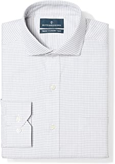 Amazon Brand - Buttoned Down Men's Tailored Fit Cutaway Collar Pattern Dress Shirt