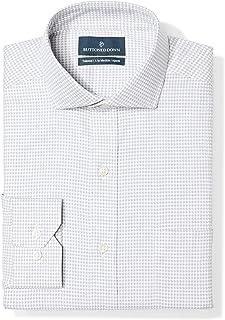 Amazon Brand - Buttoned Down Men's Tailored Fit Cutaway Collar Pattern Dress Shirt