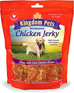 Kingdom Pets Filler Free Chicken Breast Jerky, Premium Treats for Dogs, 48-ounce bag