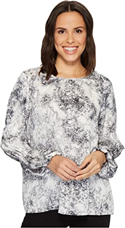 Vince Camuto - Long Cinched Sleeve Speckle Atmosphere Blouse