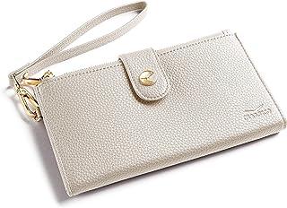 Women's RFID Wristlet Wallet & Phone Holder | Multi Credit Card Bifold Organizer w/ Zipper Pockets & Sweetly Packed in Gif...
