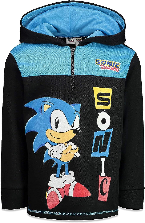 SEGA Sonic wholesale The Hedgehog Hoodie Fleece Half-Zip Max 71% OFF