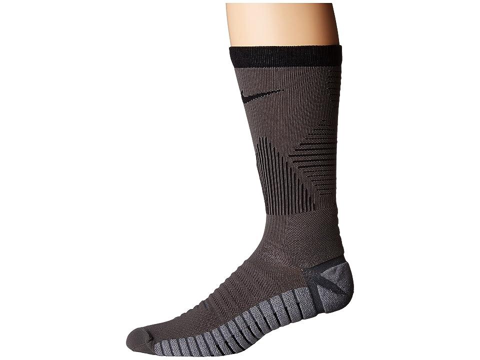 Nike Strike Mercurial Soccer (Dark Grey/Black) Crew Cut Socks Shoes