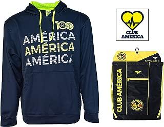 Club America Hoodie Zip up Jacket Adults New Season Sticker and Cinch