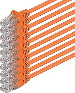 Cat6 0,5m orange 10 delar nätverkskabel patchkabel Cat6 Lan-kabel 1000 Mbits Ethernet Lan orange 10 delar kompatibel med C...