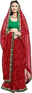 Best plain red chiffon saree Reviews