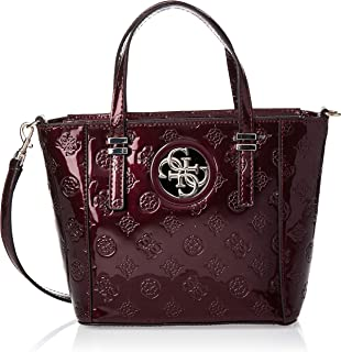 GUESS Women's Open Road Mini Tote, Merlot - PP718677