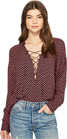 Finding Happiness Woven Top