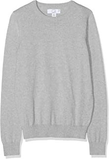 Pull Femmes Shirt Pull Taille 38 40 42 NOUVEAU gris blanc bleu avec écharpe étoiles