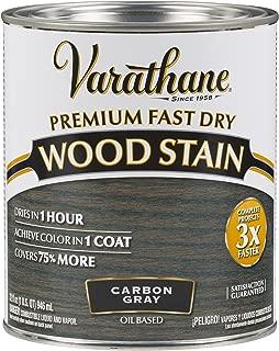 Varathane 304559 Premium Fast Dry Wood Stain, 32 oz, Carbon Gray