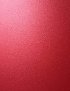 Jupiter RED Stardream Metallic Cardstock Paper - 8.5 X 11 inch - 105 lb. / 284 GSM Cover - 25 Sheets from Cardstock Warehouse