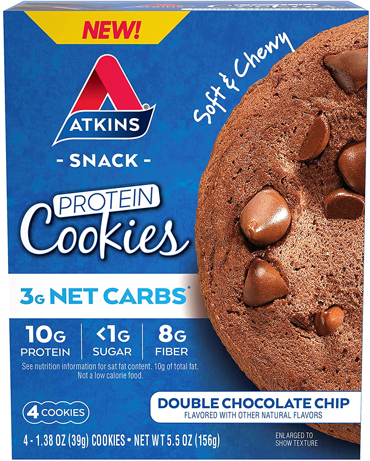 Atkins Atkins Protein Cookie Double Chocolate Chunk, 4 Count