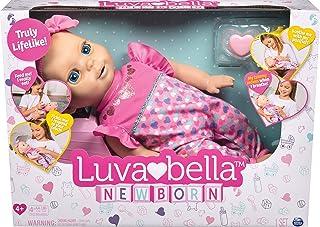 Luvabella 6047317 Interaktiv Bebis Docka med Naturliga Uttryck, Realistiska Ljud och Rörelser, Batteridriven, Rosa, 40cm