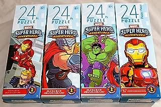 4 Factory Sealed Marvel Superhero Super Hero Adventures 24 Piece Jigsaw Puzzles Thor Iron Man Hulk Captain America Spider-Man Ages 5+ 9