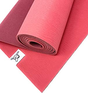 Tiggar Yoga mat - 100% Eco Friendly, All Natural Rubber Material, Non Slip Yoga mat,Excellent for Support and Stability in All Types of Yoga and Pilates.