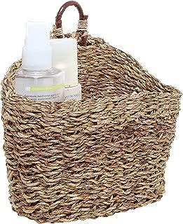 MyGift 6.5-Inch Handmade Weave Hanging Storage Basket/Multipurpose Small Indoor Display Bin