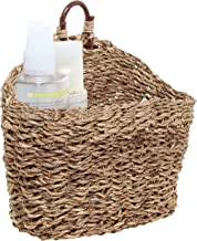 MyGift 6.5-Inch Handmade Weave Hanging Storage Basket/Multipurpose Small Indoor Display Bin