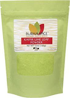 Ground Kaffir Lime Leaves, used in Tom Yum Thai soup from Citrus Hystrix plant, Makrut, Kosher (3.5oz.)