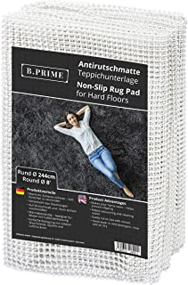 B.PRIME Round 8-Feet Diameter Non-Slip Rug Underlay Pad for Hard Floors. Different Size Options Available