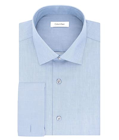 Calvin Klein Non Iron Slim Fit Herringbone French Cuff Dress Shirt