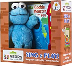 Sesame Street - Cookie Monster and You - Music Sound Book and Cookie Monster Plush - PI Kids