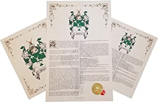 Tracy Coat of Arms, Family Crest & History 3 Print Combo - Name Meaning Plus Genealogy, Family Tree Research - Surname Origin: Ireland/Irish