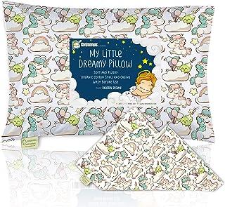 Toddler Pillowcase For 13X18 Pillow - Organic Toddler Pillow Case for Girl, Kids - 100% Natural Cotton Pillowcase For Mini...
