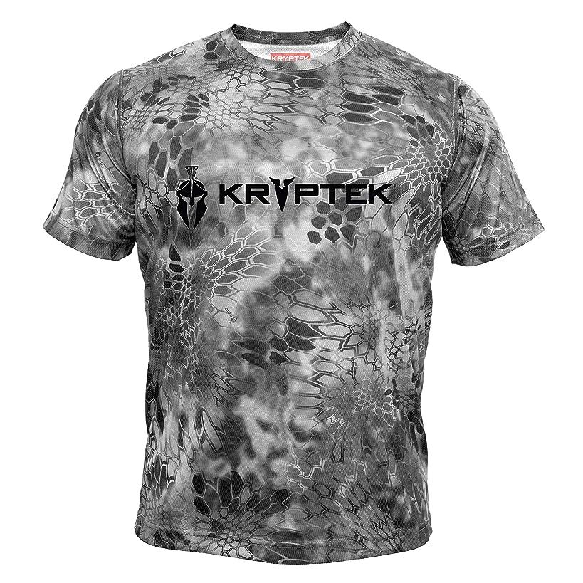 Kryptek Hyperion SS Crew - Short Sleeve Camo Hunting & Fishing Shirt (K-Ore Collection)