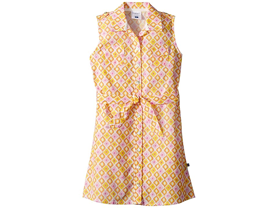 Toobydoo Sunshine Belted Shirtdress (Toddler/Little Kids/Big Kids) (Pink/Yellow) Girl