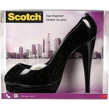 C30-SHOE-B Scotch Shoe Dispenser with Scotch Magic Tape 3//4 x 350 Inches 1 Dispenser 1 Roll Black