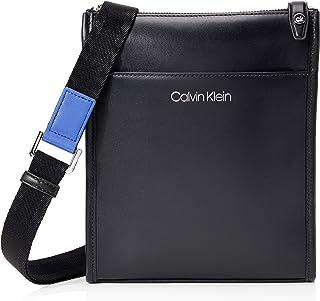 Calvin Klein - Ck Panache Flat Crossover, Shoppers y bolsos de hombro Hombre, Negro (Blackwhite Black), 1x1x1 cm (W x H L)