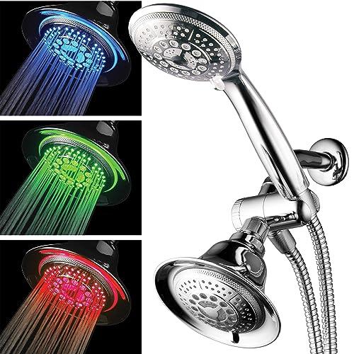 Lighting for shower Rain Hotelspa Shower Combo With Led Shower Head Highperformance In Combination Shower Amazoncom Shower Lighting Amazoncom