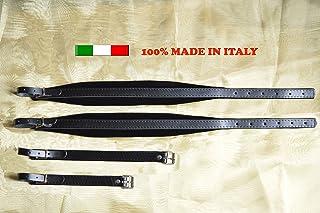 Correa correas para acordeón 6 cm piel genuina terciopelo 100% producción italiana