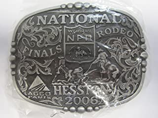HESSTON 2006 NATIONAL FINALS RODEO ADULT BELT BUCKLE, NEW WRANGLER NFR AGCO