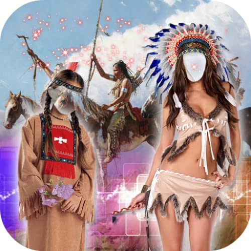 Red Indian Photo Montage