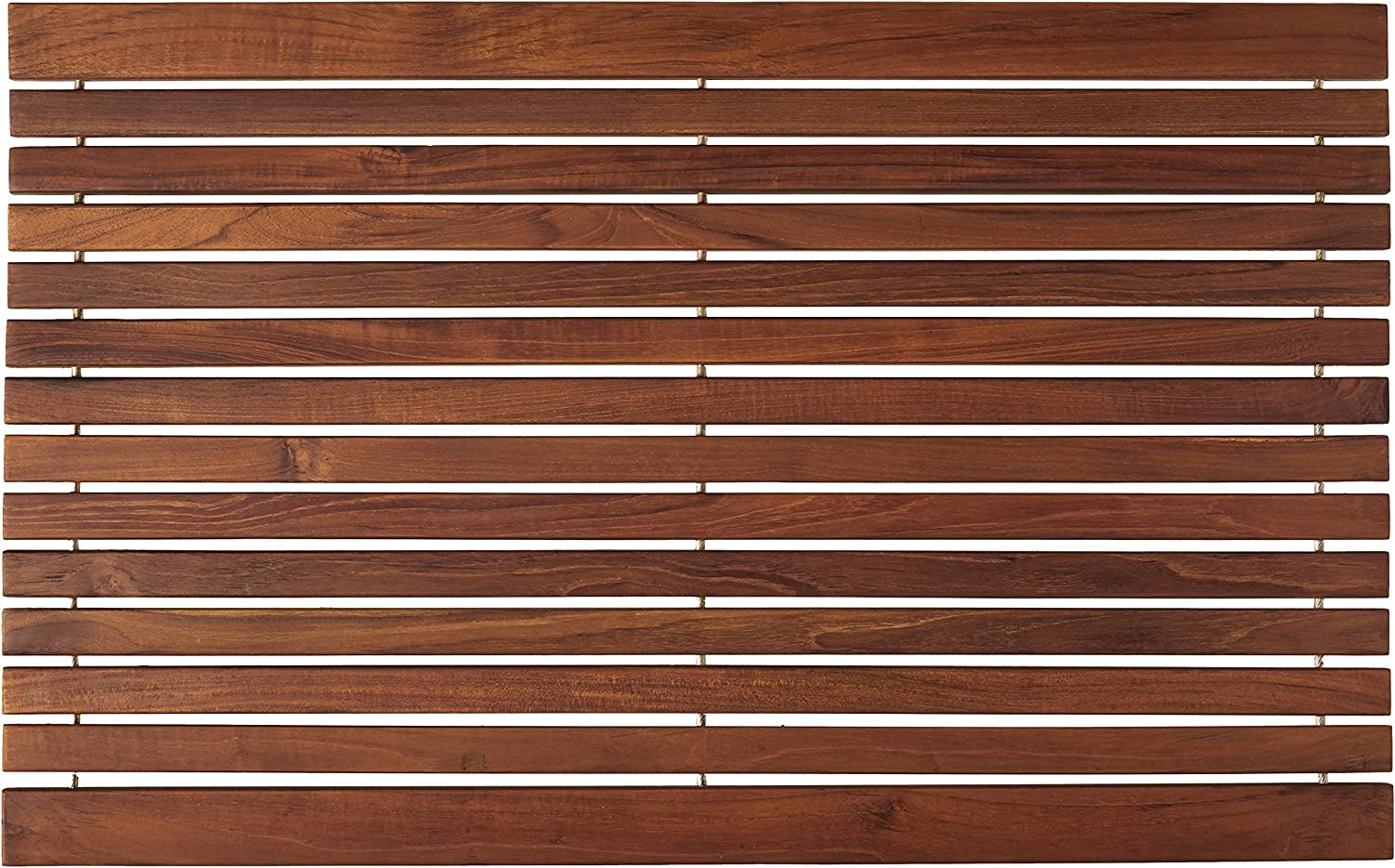 Bare Decor COSI Shower Mat in Solid Teak Wood Oiled Finish, 31.5  x 20 ,
