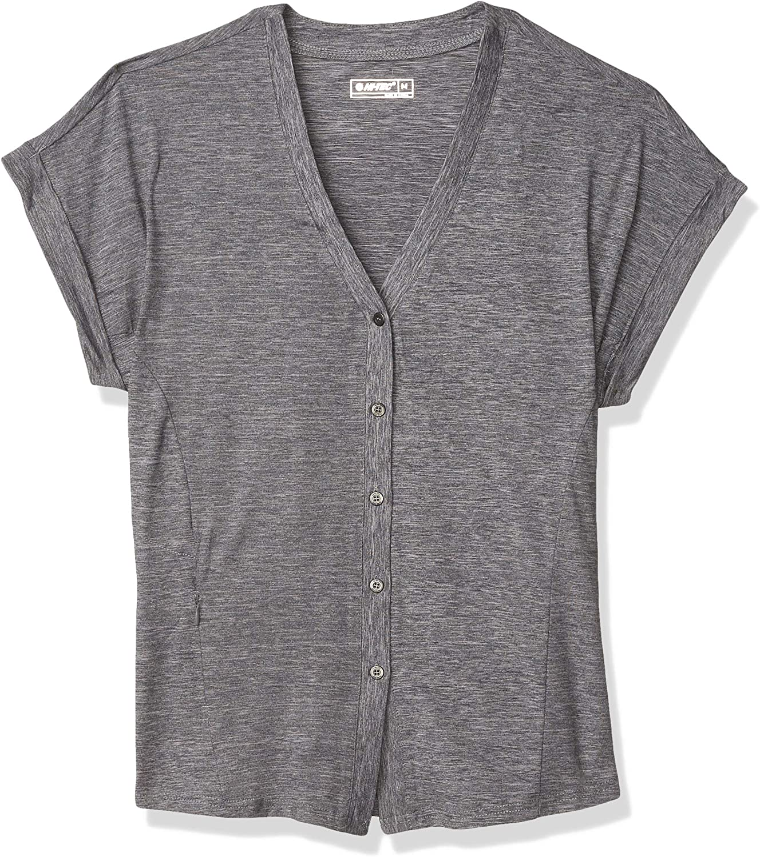 Hi-Tec Women's Echo Dolman Short Sleeve Button Front Shirt