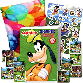 Disney Mickey and Goofy Coloring Book and Stickers Gift Set - Bundle Includes Gigantic 192 pg Coloring Book with Stickers in Specialty Gift Bag (Goofy)