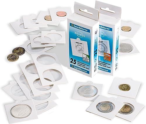 Leuchtturm Münzr chen Matrix, Weiß Innendurchmesser 27,5 mm, selbstklebend, 1.000er-Pack