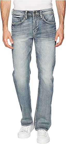 Six-X Straight Leg Jeans in Sanded and Worn