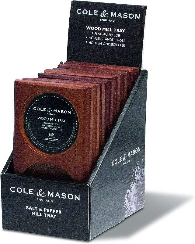 Cole Mason Salt Pepper Mill Tray Brown Wood