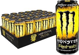 Monster Rehab Energy Drink, Tea + Lemonade, 15.5 Fl Oz, Pack of 24
