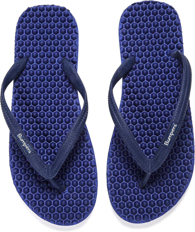 Bumpers Massage Flip Flops for Men, Eco-Friendly, Anti Slipping & Comfortable Flat Beach Sandals