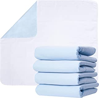 Washable Underpads, Pack of 4 Large Bed Pads, 34