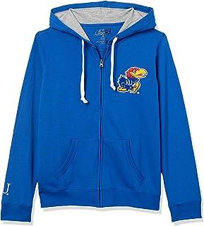 E5 Women's NCAA Full Zip Hoodie ،Kansas, Royalal, M